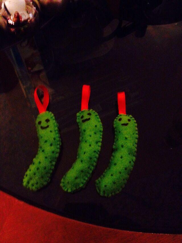 Trio of Xmas pickles