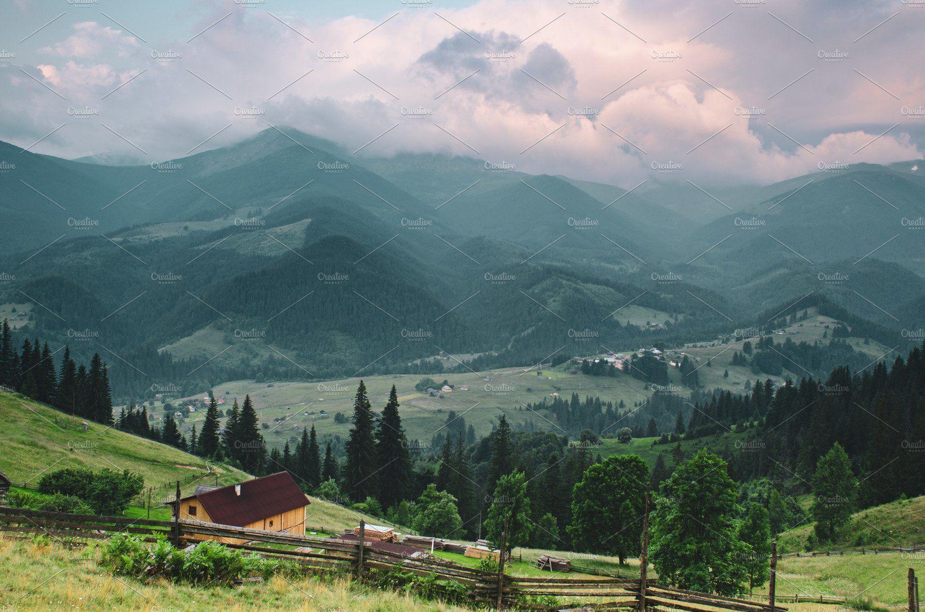 Carpathian Mountain Landscape Summer Landscape Mountain Landscape Landscape