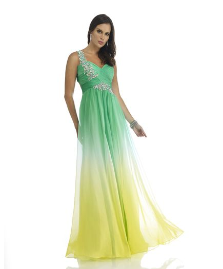 Prom Dress- TT New York/ Green & Lime Ombre/ Sizes 0-16 | Prom ...