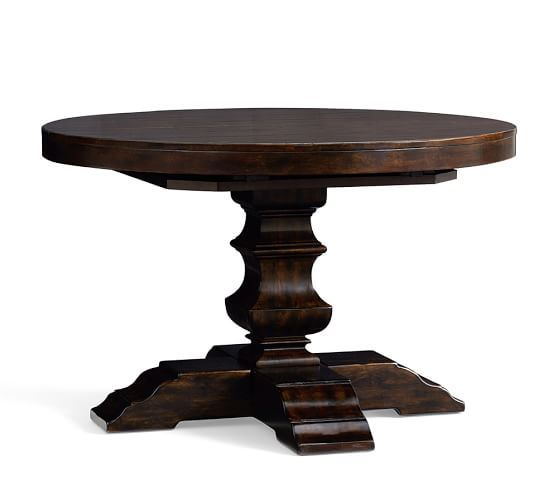 Pottery Barn Banks Extending Pedestal Dining Table 48 72 1 599