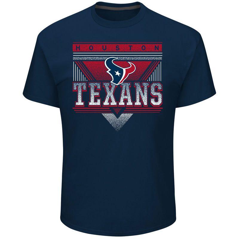 Houston Texans Majestic Keep Score T-Shirt - Navy