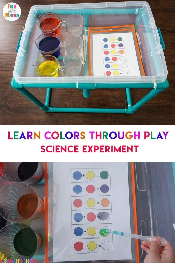 Photo of Color Mixing Water Activity For Kids