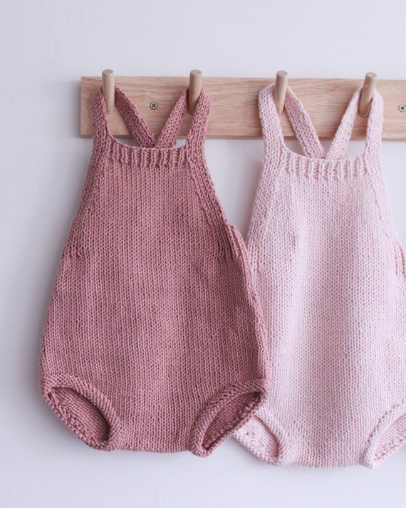 Instant Download PDF Knitting Pattern to make a Baby Toddler Summer Romper Suit Pants Shorts with Braces /& Cardigan 4 Ply Yarn One Size