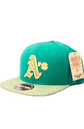 123STRAPBACKS Oakland Athletics Hatch Strapback Hat (Green/Lime)