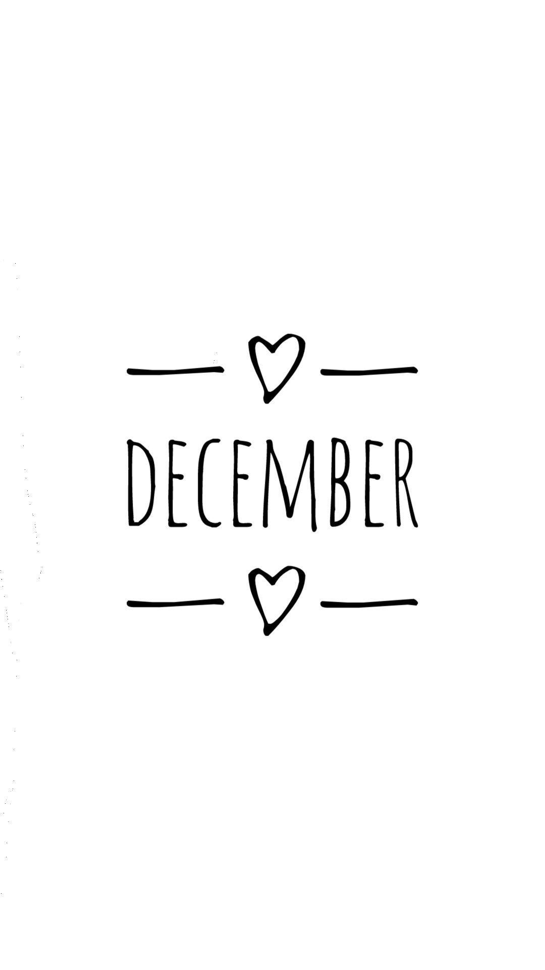 December  #birthdaymonthmeme #december #cover #instagram #month #white #heart #decembrefondecran