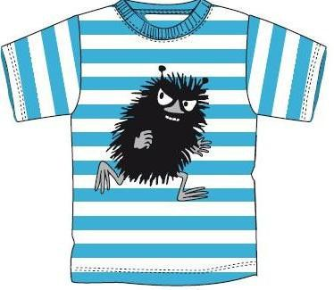 Moomin Characters Stinky Blue And White Stripes T Shirt