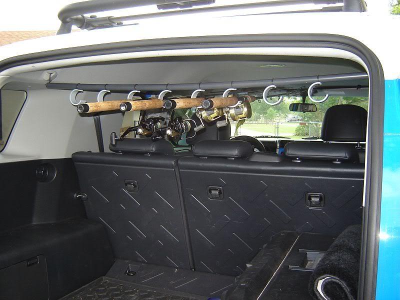Fishing Rod Storage Rack In Vehicle