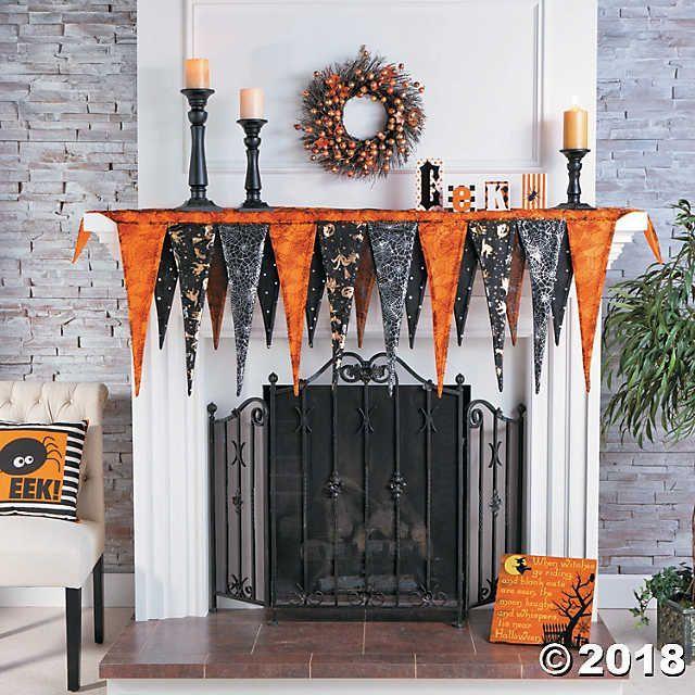 Pennant Mantel Scarf Halloween Décor Halloween Pinterest