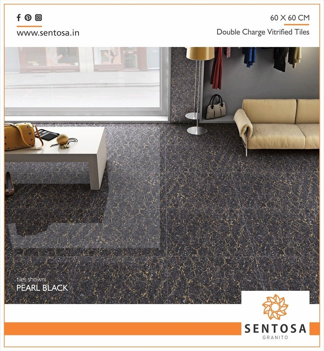 Sentosa Granito Brand Doublecharge Vitrified Tiles Pearlblack Series Crafted Byclass Digitalmarketing For More D Vitrified Tiles Home Decor Tiles