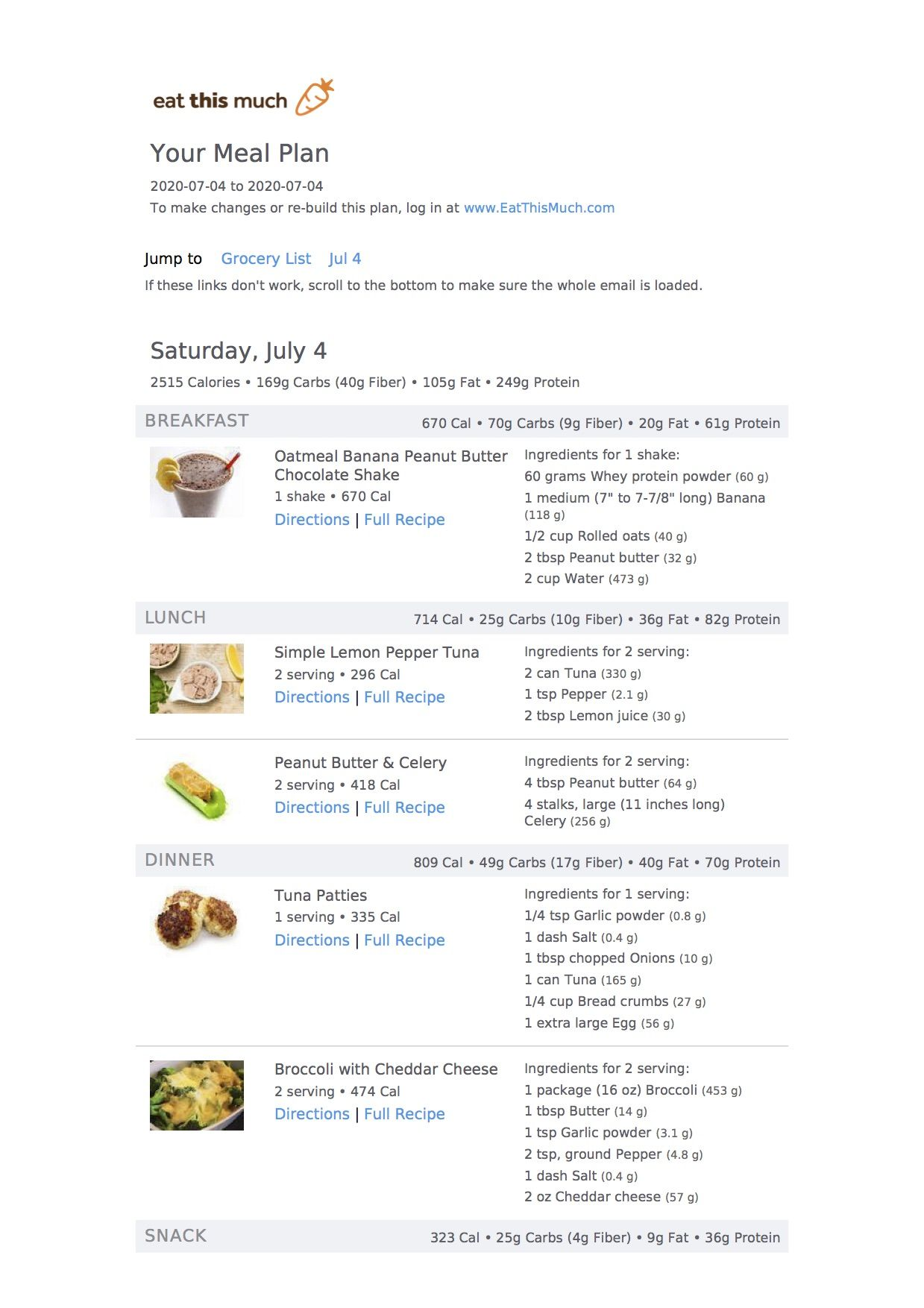 Pin On 2500 Calorie Meal Plans
