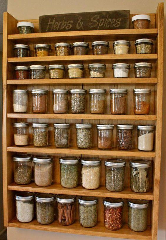 kitchen decor wall spice rack