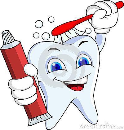 Personaje de dibujos animados del diente  ABCDario  Pinterest