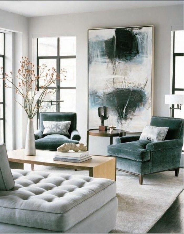 Wandgestaltung Wohnzimmer Modern
