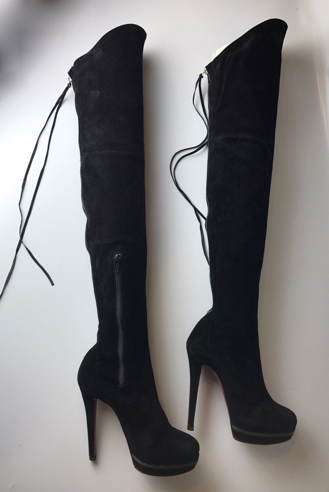 b50184598dc1 ... italy christian louboutin unique 140 black suede thigh high boots euro  36 us 6 b9d8b 00000