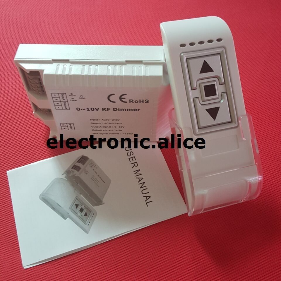 New Ac90 240v 0 10v Dimmer W 3keys Rf Wireless Remote Dm015 Controller Led Dimmer Led Led Lights
