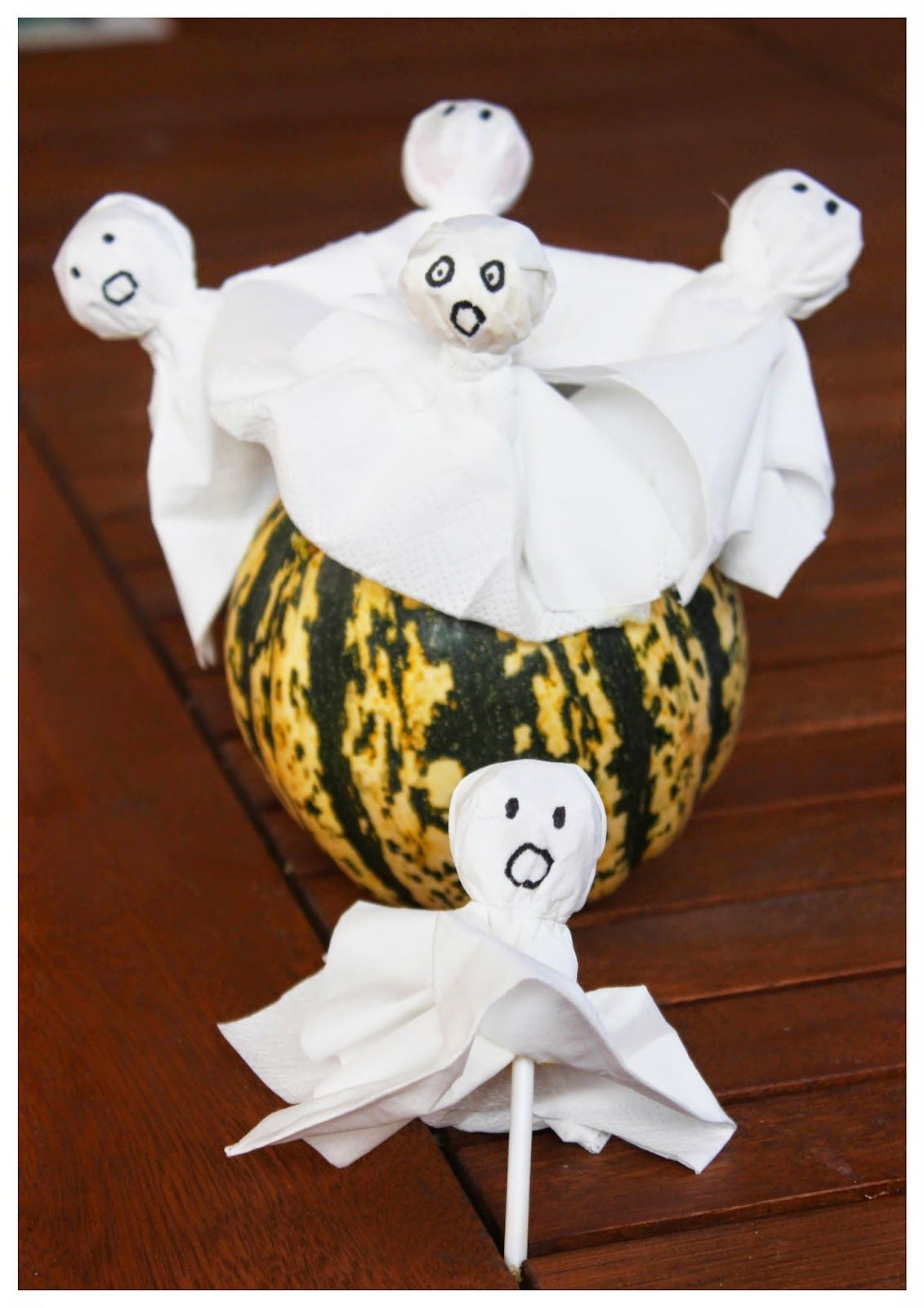 Halloween, Ghost-Lollipop, Geister-Lolli DIY