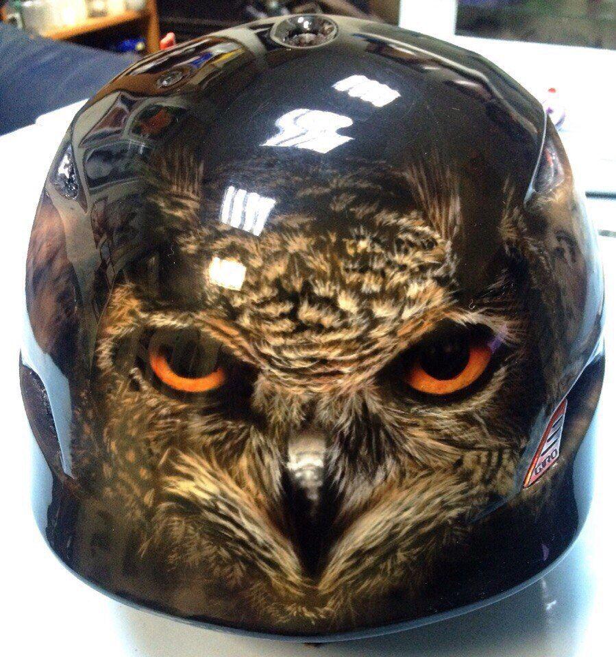 Custom Airbrush Motorcycle Helmets Eagle