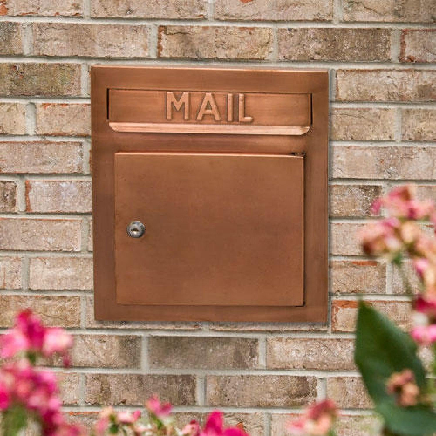 Recessed Copper Locking Mailbox Nice Houses Mail Boxes