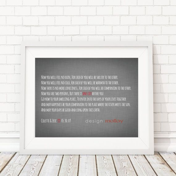 Customized Apache Wedding Blessing Print By Designmolloy