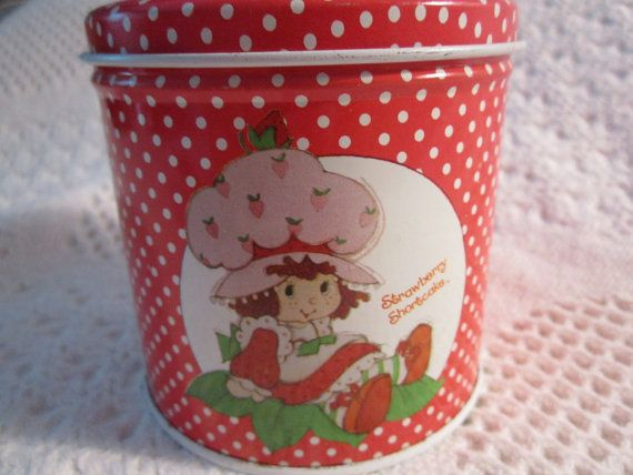 Vintage 1980 STRAWBERRY SHORTCAKE Tin by curlygirlboutique on Etsy, $9.95