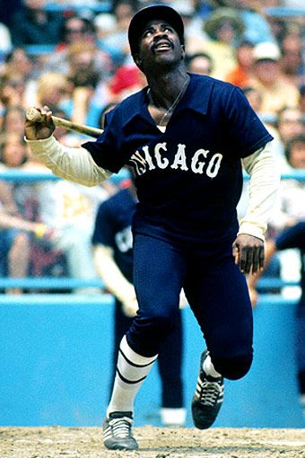 ab2e8e51 Ralph Garr of the White Sox. The team's faux-retro jerseys were introduced  to celebrate MLB's centennial in 1976 and worn through 1981.