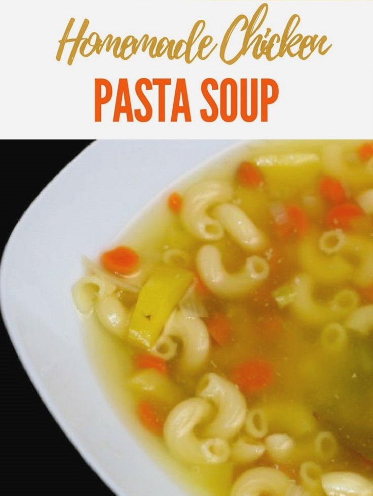 Chicken pasta soup is quick and easy homemade soup.