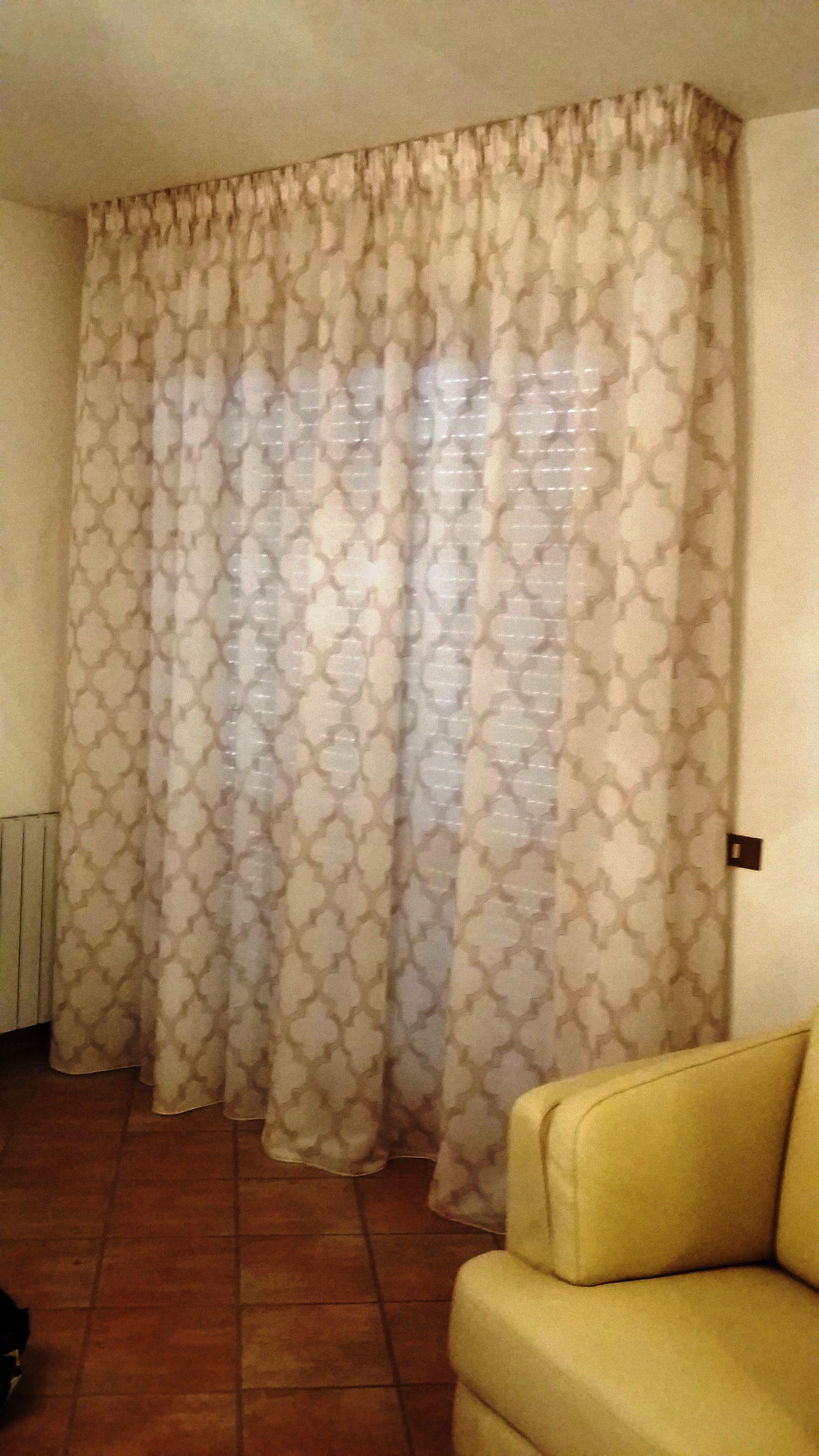 Tende arricciate su binari per sala tende da interni serramenti ed avvolgibili pinterest - Tende per sala moderna ...