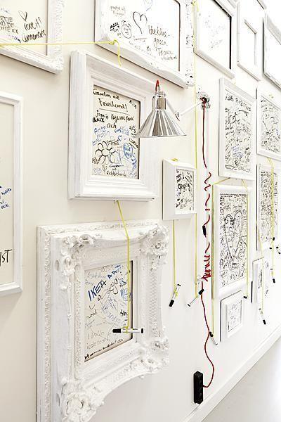 Inspirations en vrac: le blanc   Pasillos, Marcos blancos y Marcos
