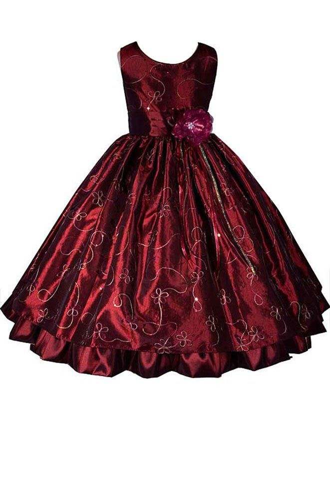 3aad3c8842c Amazon.com  AMJ Dresses Inc Girls Burgundy Fairy Flower Girl Holiday Dress  Sizes 2 to 12  Special Occasion Dresses  Clothing