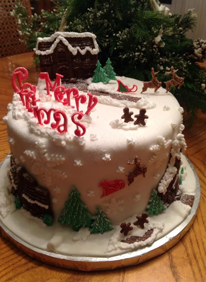 Merry Christmas Cake Cakes By Blc Cakes By Blc Pinterest Cake