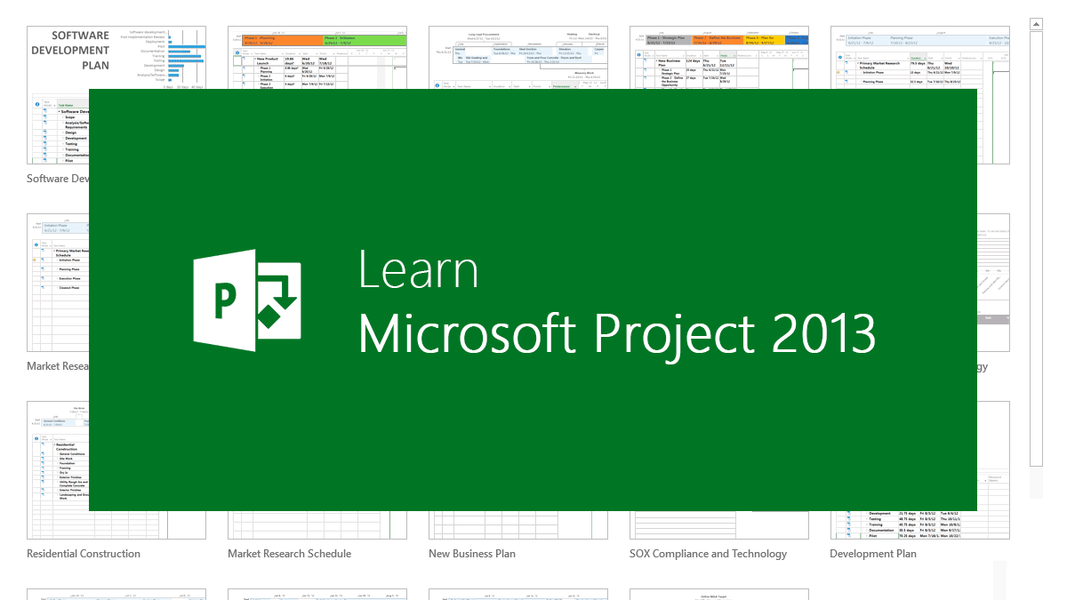 ms project examples download