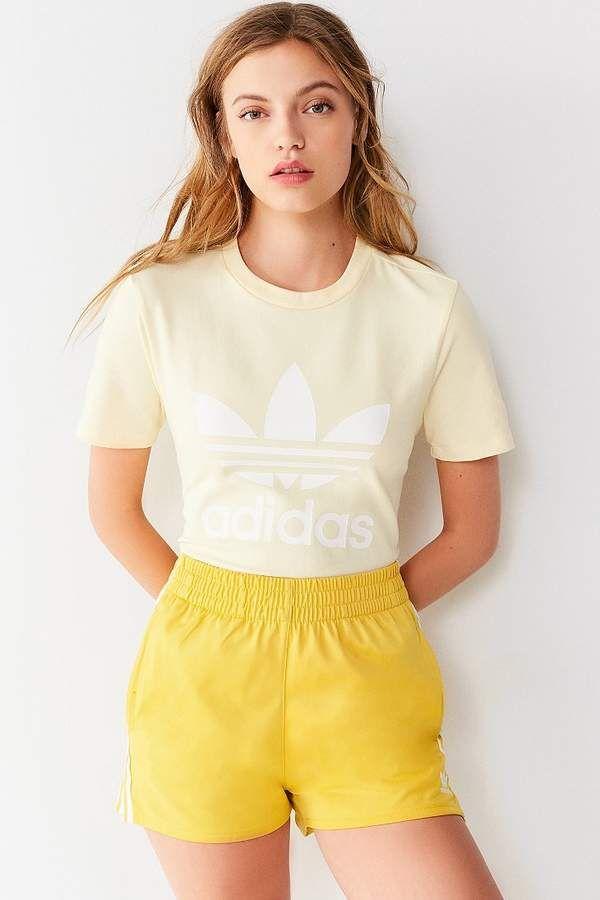 4b964a9374de6 Adidas Originals Trefoil Crew-Neck Tee  adidas  adidasoriginals  jacket   fashion Yellow