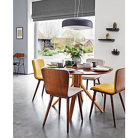 House By John Lewis Radar 6 Seater Round Dining Table Walnut Round Dining Table Round Dining Table Modern Dining Table