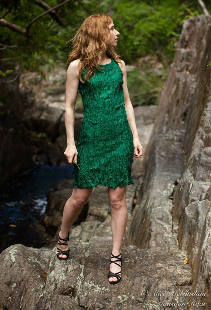 Hand-dyed fine emerald green Cambodian silk fabric makes for the perfect fair trade fashion staple.