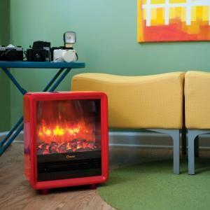 Crane 1 500 Watt Mini Fireplace Radiant Electric Portable Heater