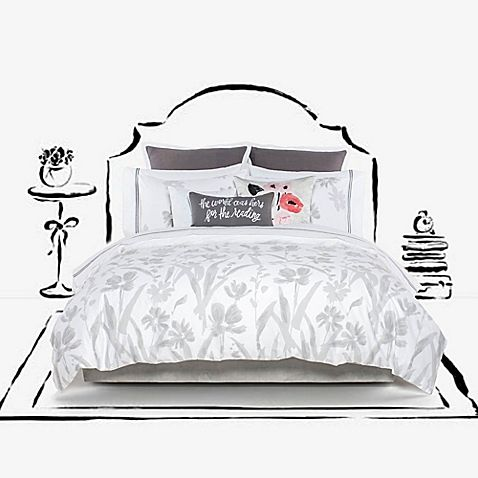 Make A Bold Stylish Statement In Your Bedroom With The Kate Spade New York Brushstroke Garden Duvet Cover Set De Duvet Cover Sets Comforter Sets Duvet Covers
