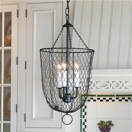 Chicken Coop Chic | Chicken wire, Lights and Farmhouse lamps