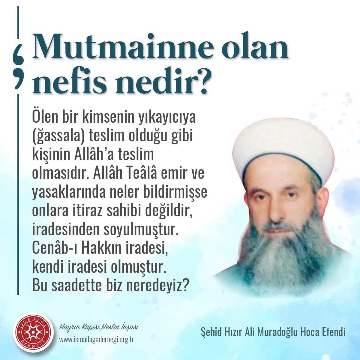 Sehid Hizir Ali Hoca Efendi Den 2020 Islam Tavsiye Sozleri Dualar
