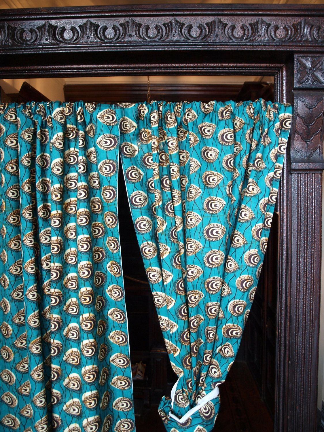 African Wax Print Window Curtains And Valances 100 00