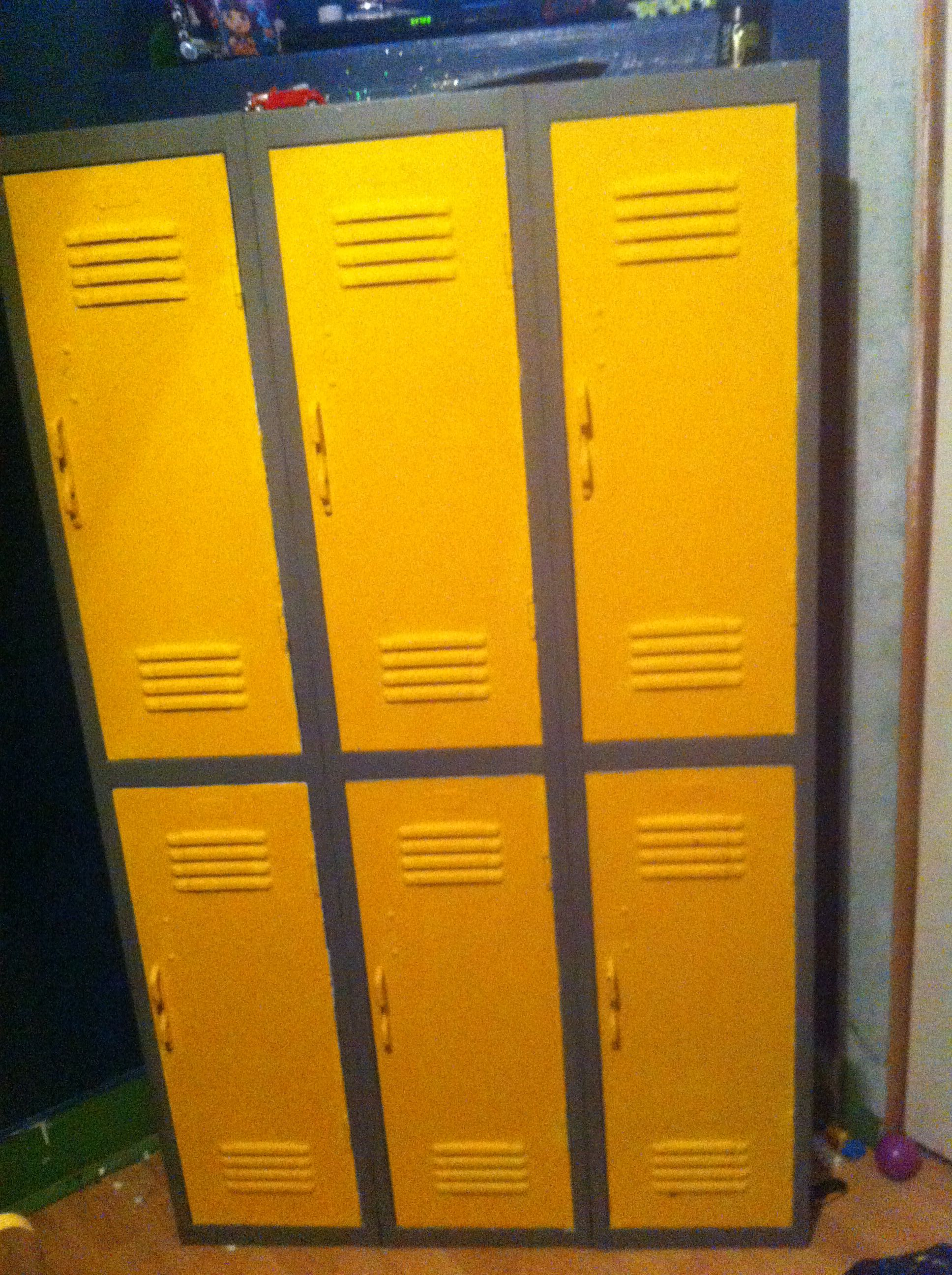 Old school lockers (got them right out the school actually). Same ...