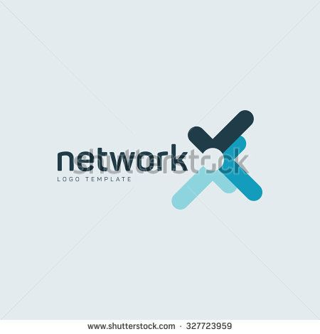 Network Logo Geometric Branding Logo Abstract Technology Logo