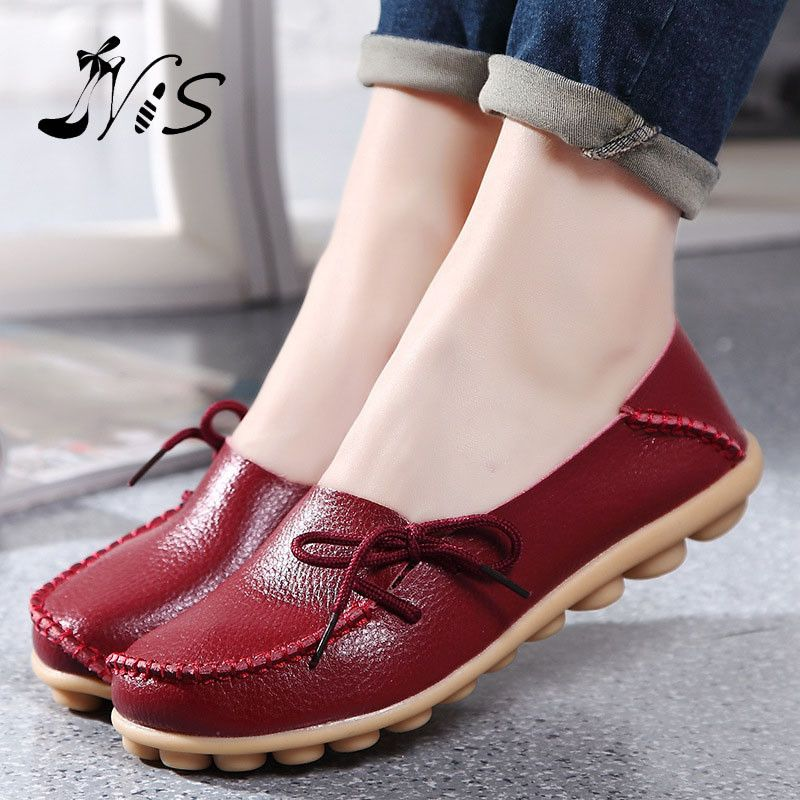 c4a2f3232376 Hot Sale Leather Beanie Women Shoes Fashion Summer Spring Autumn Slip on  Knot Non slip Womens Women Ladies Soft Loafers Flats-in Women s Flats from  Shoes on ...