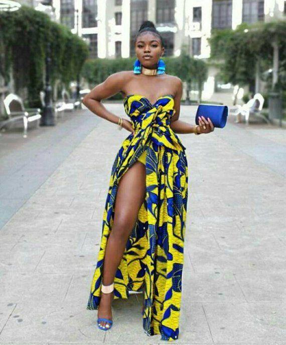 Afrikanische Unendlichkeit Kleid / / Ankara gewickelt Kleid / afrikanische Party Kleid / afri... #ankaramode