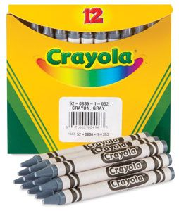 Gray Crayons Box Of 12 Bulk Bulk Crayons Color Crayons