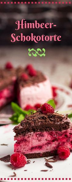 Himbeerschokotorte Rezept - wunderbar fruchtig und schokoladig #veganermaulwurfkuchen
