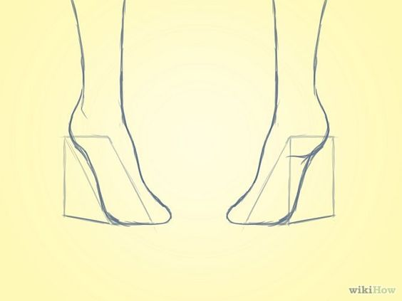how to draw heels from the front buscar con google drawing