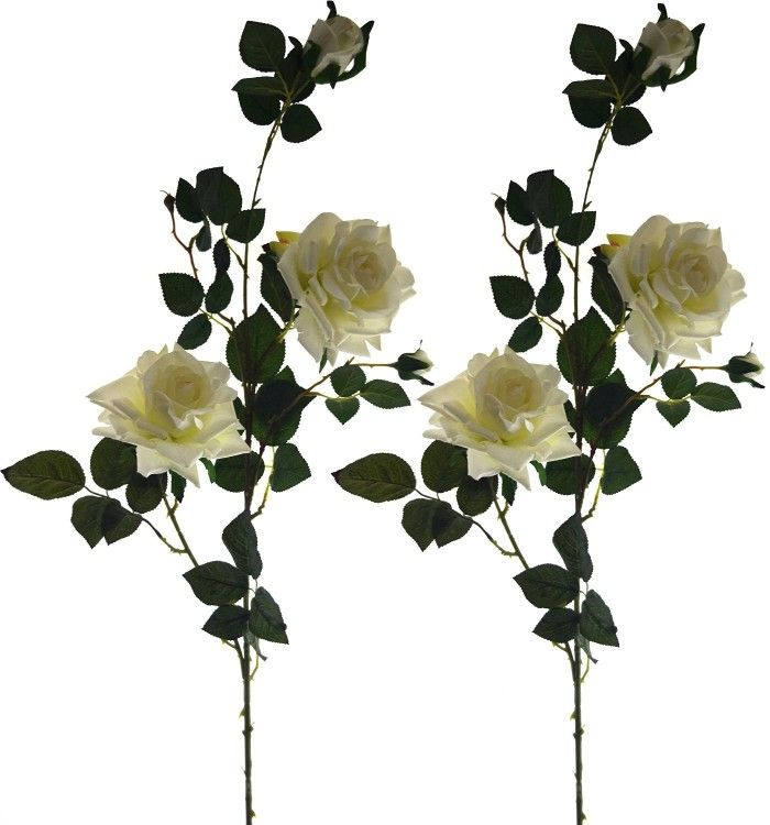 Lovely Artificial Rose White Artificial Flowers Artificial Roses Flower Decorations