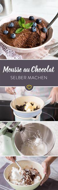 Luftige Mousse au Chocolat ganz einfach selber machen #chocolate