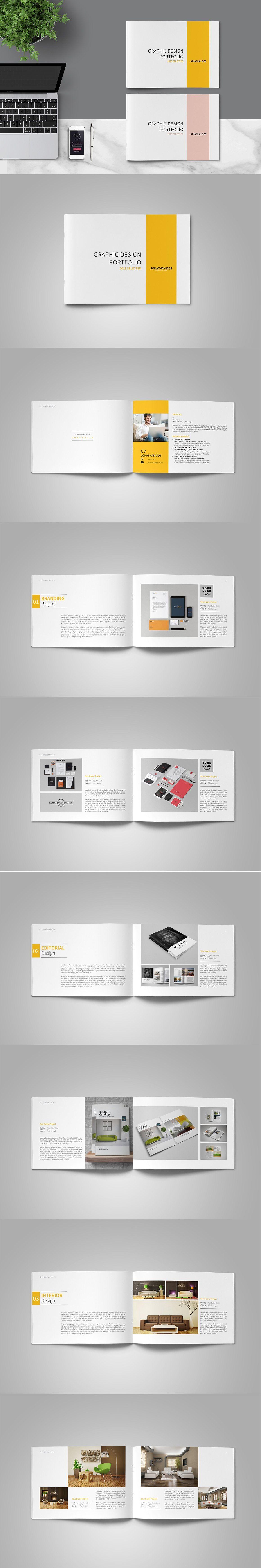 graphic design portfolio template pdf brochure design templates