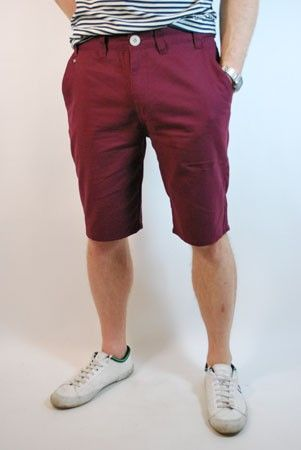 FLY53 Warlaw burgundy Chino Shorts at ScaryCanary Clothing (£28.00 ...